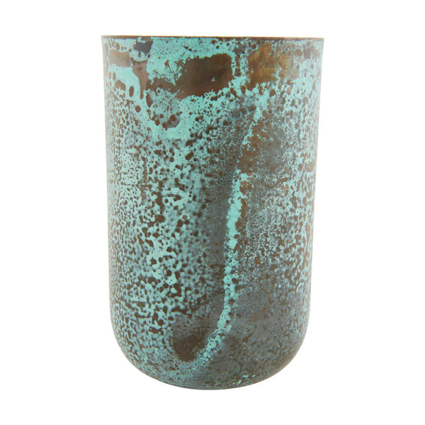 Image of metal green vase by house doctor