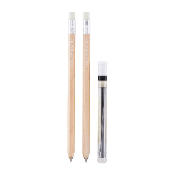 Two propelling pencils with leads by Monograph