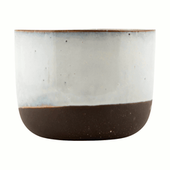 Planter - Cream/Grey - Small by House Doctor