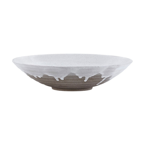 Image of large plate/bowl with running glaze by house doctor