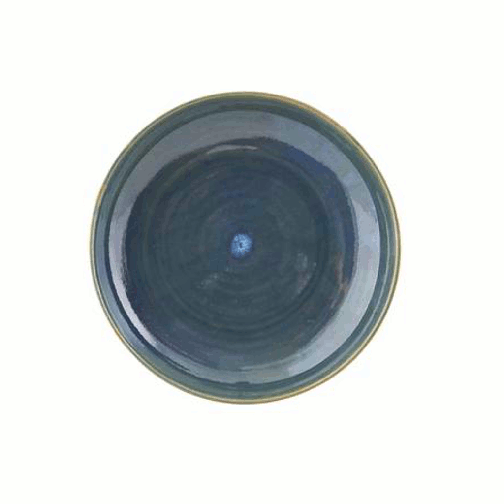 Plate/Bowl - Nord - Blue - 21.5cm by House Doctor