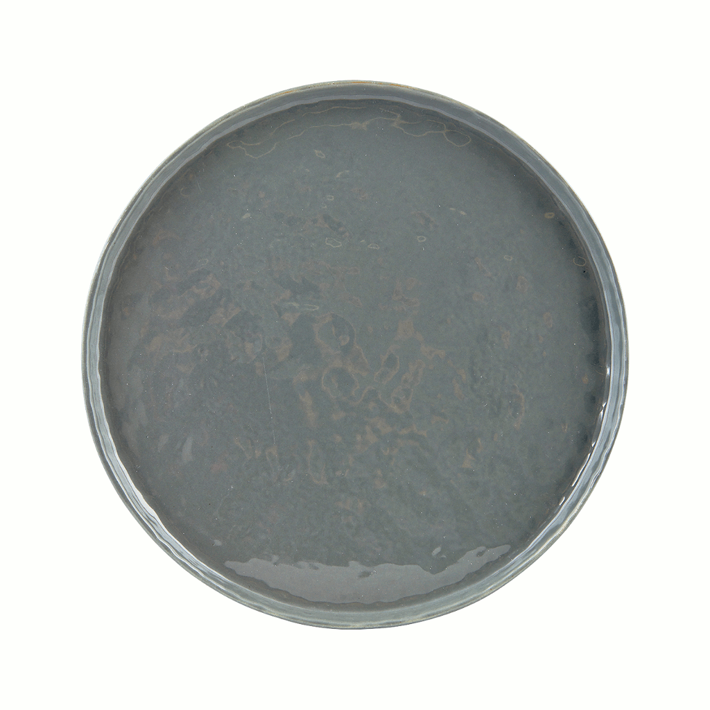 Plate - solid grey - 22cm by House Doctor