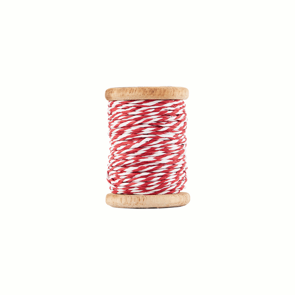 Twisted red and white cotton string by House Doctor
