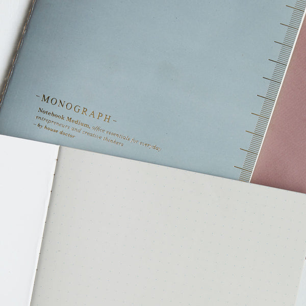 Soft notebooks with dot paper by House Doctor