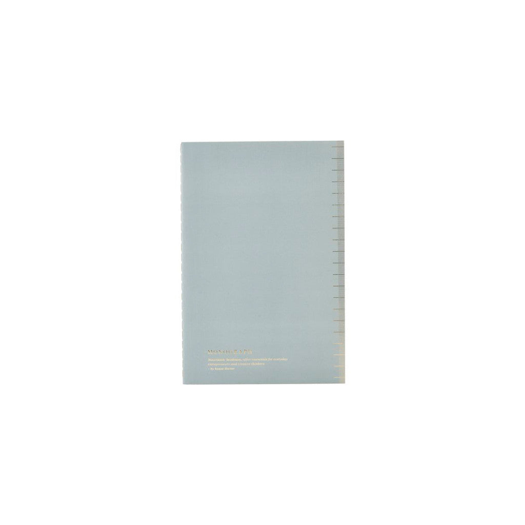 Soft blue notebook with dot paper by House Doctor