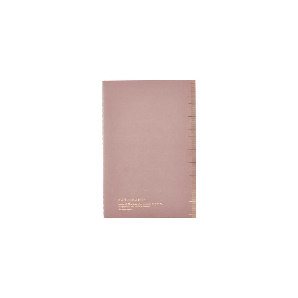 Soft light burgundy notebook with dotted paper by Monograph for House Doctor