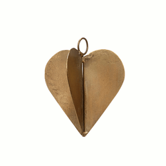 Heart, brass, small by Hubsch