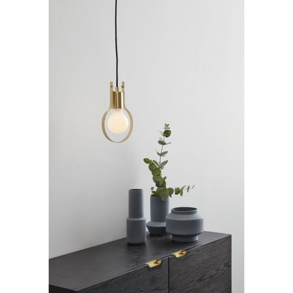 Brass table or hanging pendant lamp by Hubsch
