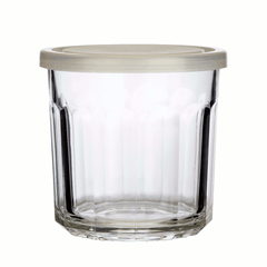 Marmalade/jam glass, clear, lid by Hubsch