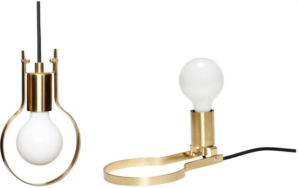 ... Brass Table Or Hanging Pendant Lamp By Hubsch