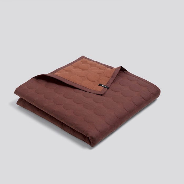Mega dot bed cover / blanket - small in rust colour by HAY