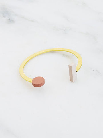 Dot Dash Cuff in Blush by Wolf and Moon