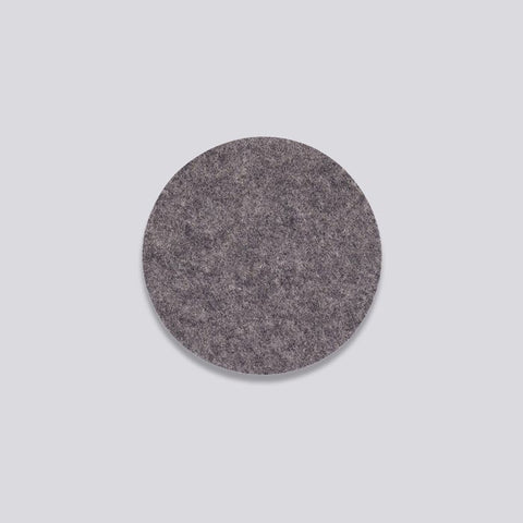 Felt coaster in dark grey