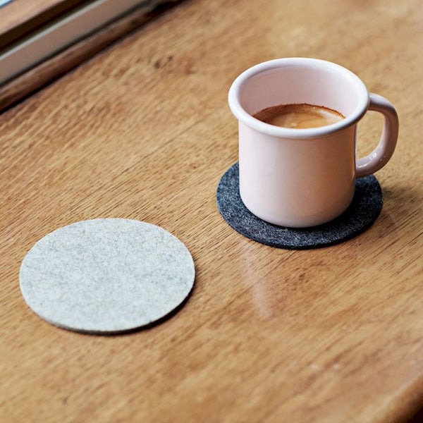Felt coaster in grey by HAY