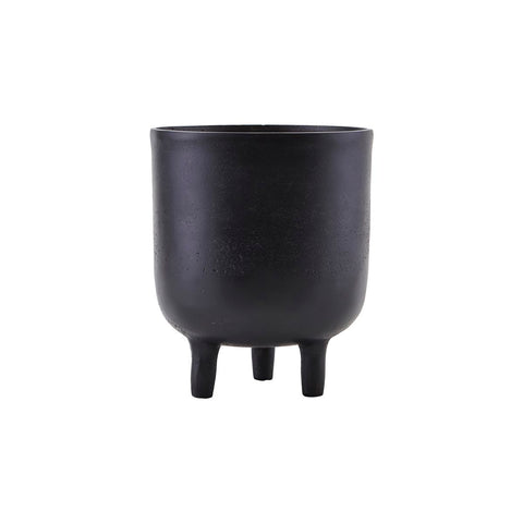 Planter, Black with 3 feet by House Doctor