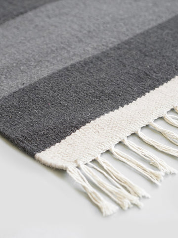 Kelim Rug - Section - Large - Grey by ferm LIVING