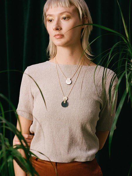 Celeste I necklace in Navy by Wolf & Moon