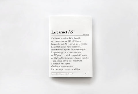 Le Carnet / The Notebook in A5 by Be Poles
