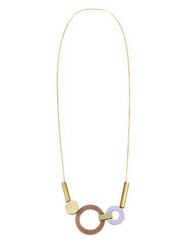 Lora statement necklace in Coffee by Wolf & Moon
