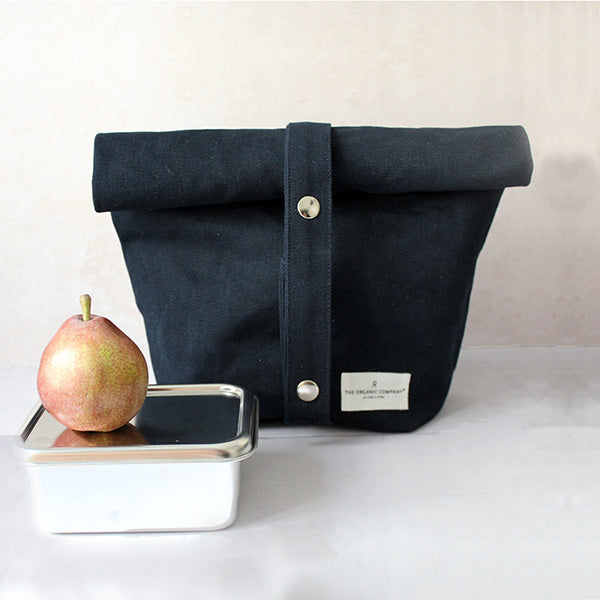 Lunch Bag in Dark Blue by The Organic Company