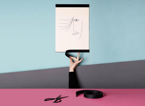 Cut to Size Minimal Poster Frame in Black