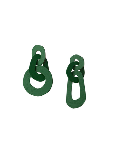 Margot Statement Earrings in Green by Wolf & Moon
