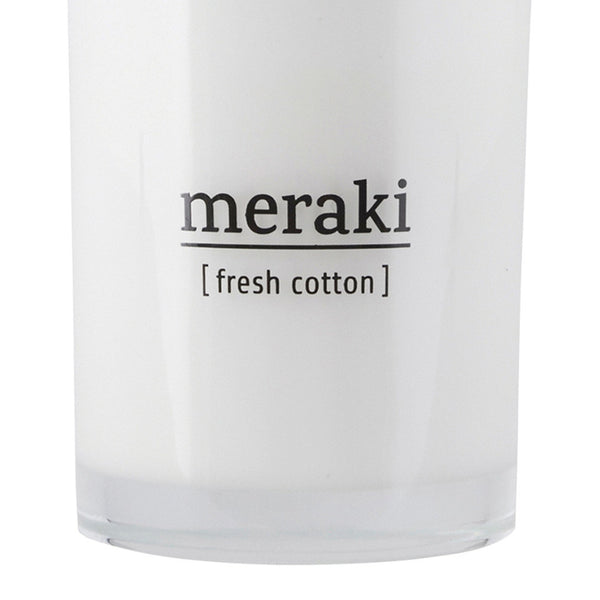 Image of large fresh cotton candle by Meraki