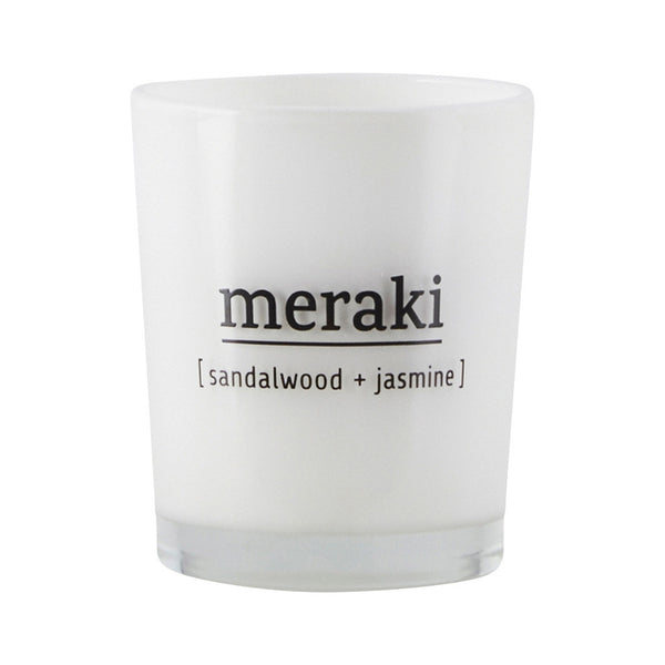 Candle Small - Sandalwood & Jasmine by Meraki