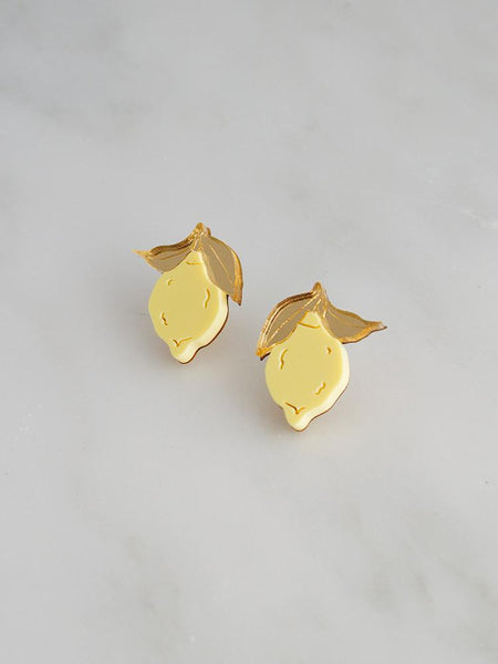 Mini Lemon Studs by Wolf & Moon
