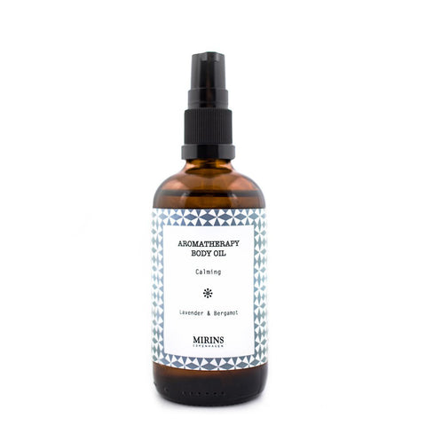 Image of calming body oil by Mirins Copenhagen