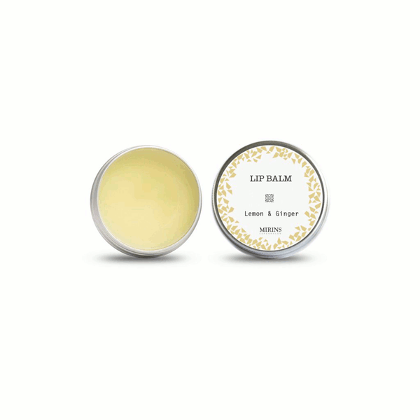 Lemon and ginger lip balm from Mirins Copenhagen