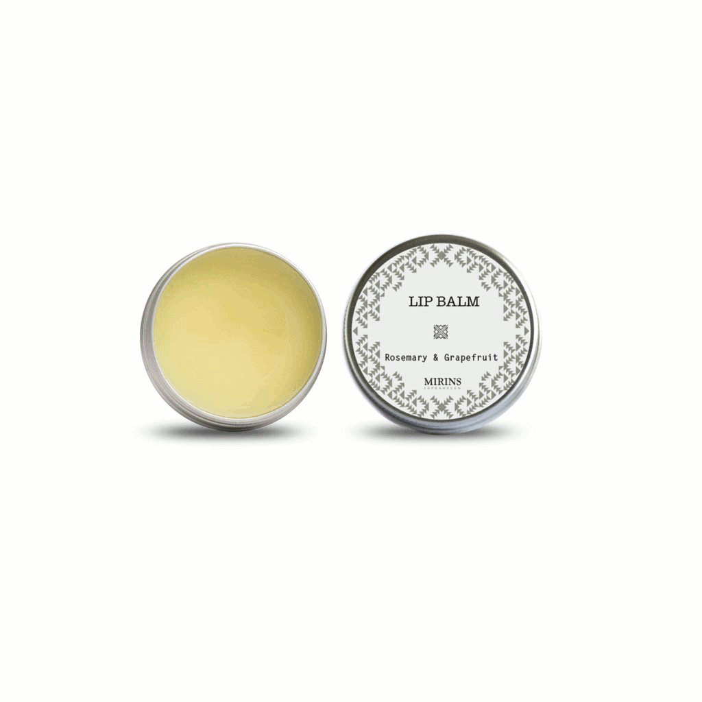 Mirins Copenhagen lip balm with rosemary and grapefruit