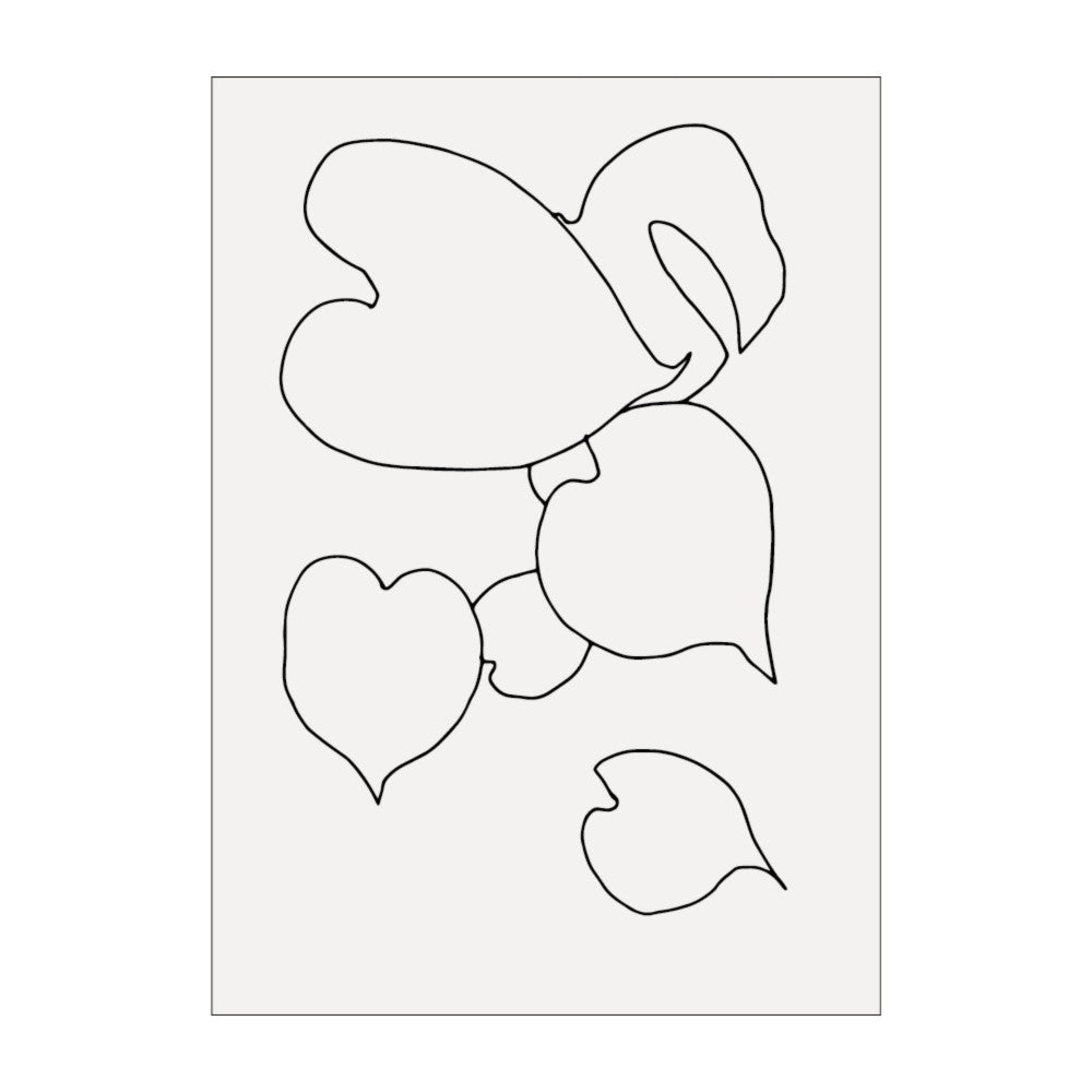 Monstera Leaves Line Drawing Print by James Wilson
