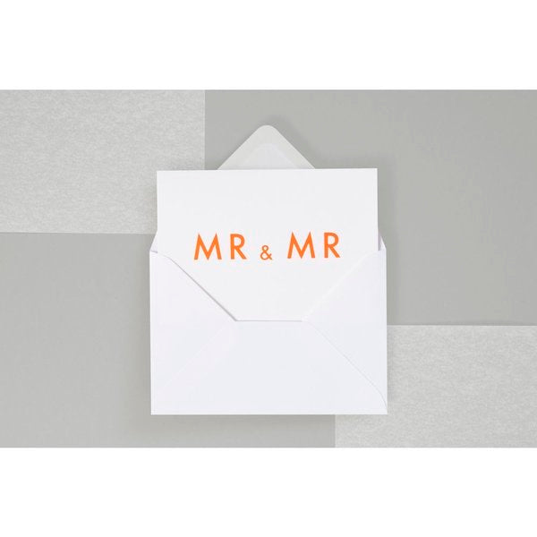 MR & MR Card Orange/White by ola