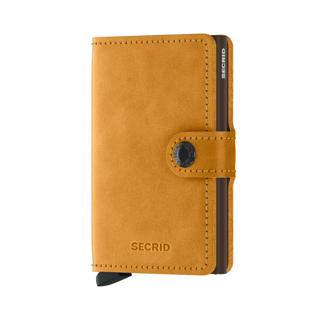 Miniwallet in Vintage Ochre by Secrid Wallets