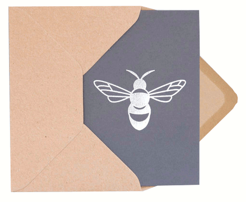 Bee Card Dark Grey/Silver by ola