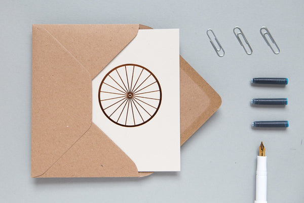 Context image of Bicycle Wheel Card Stone/Copper by ola
