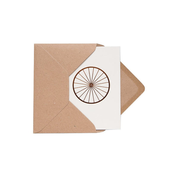 Bicycle Wheel Card Stone/Copper by ola