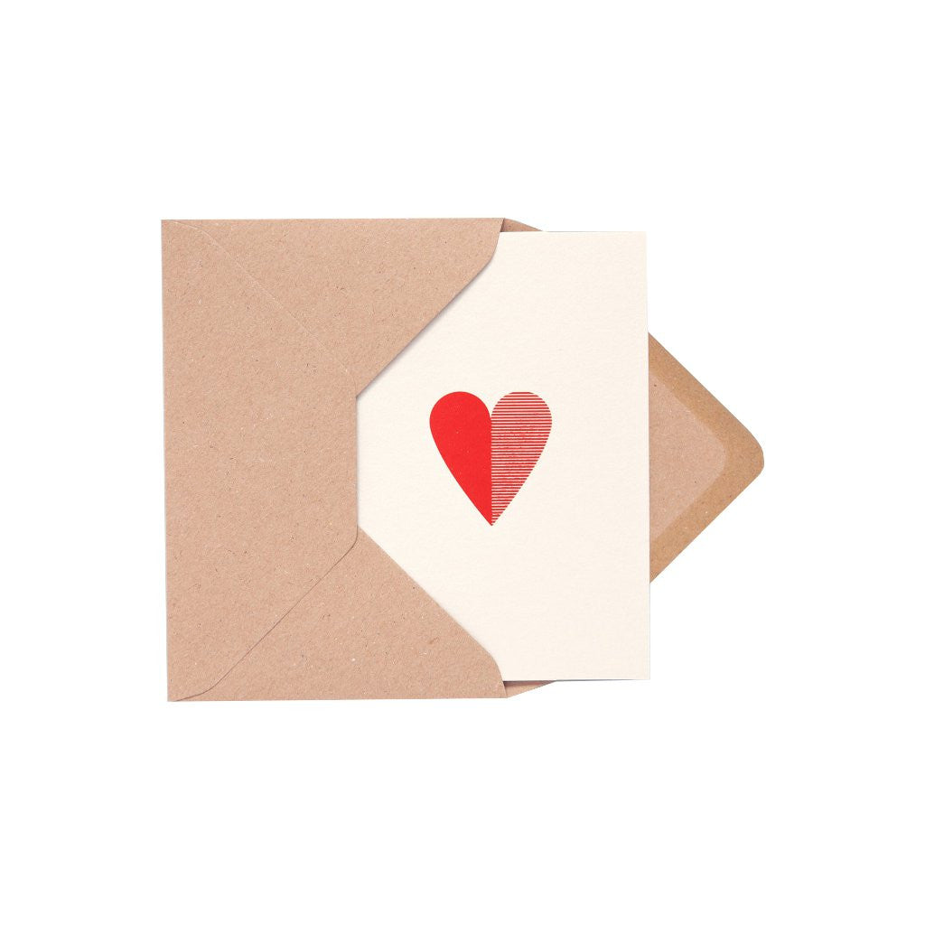 Heart Card Stone/Red by ola