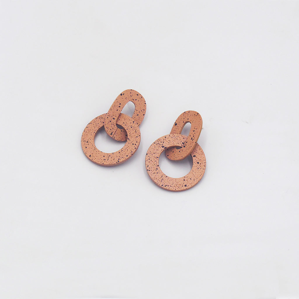 Orla I earrings in Terracotta by Wolf & Moon