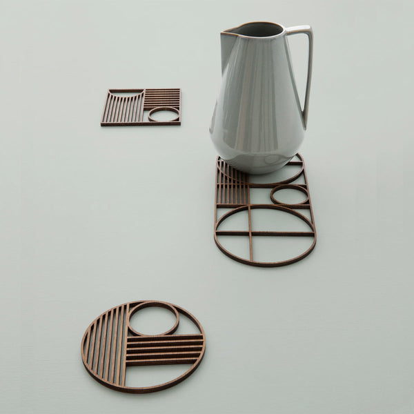 Outline trivet - Square - smoked oak by ferm Living