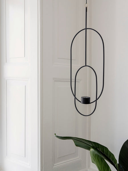 Oval black hanging tealight - deco - by ferm LIVING
