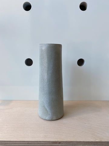 Stem Vase in Grey by Hands On Clay