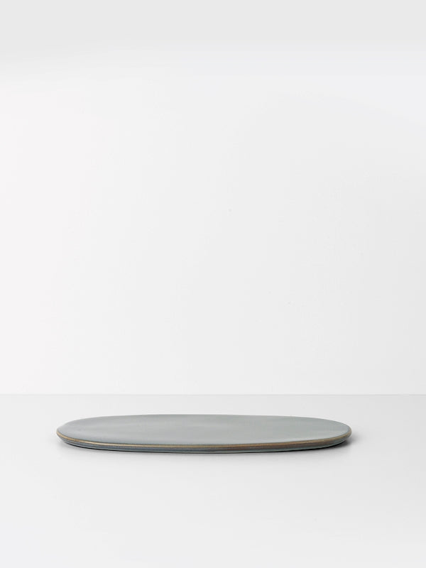 Glazed Oval Platter in Grey - Neu - by ferm Living