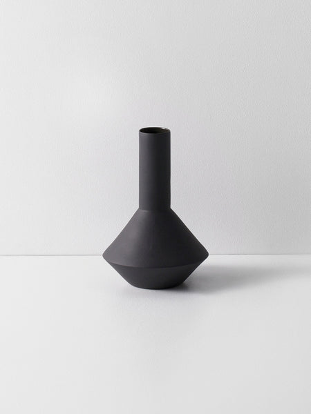 Sculpt Vase 'Pod' in Dark Grey by ferm Living