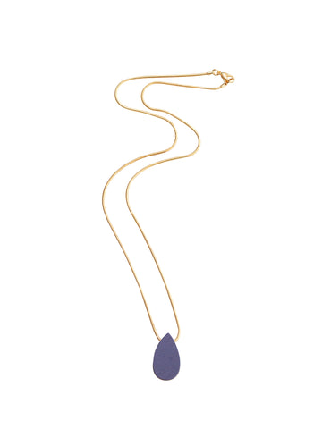 Raindrop necklace in blue berry by Wolf & Moon