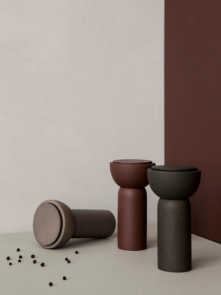 Drupe pepper or salt mill in dark green ash wood by ferm Living