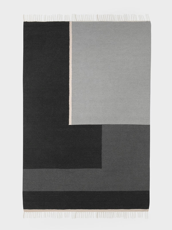 Kelim Rug - Section - Medium - Grey by ferm LIVING
