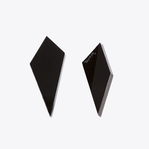 Shard Studs Earrings in Black by Wolf & Moon