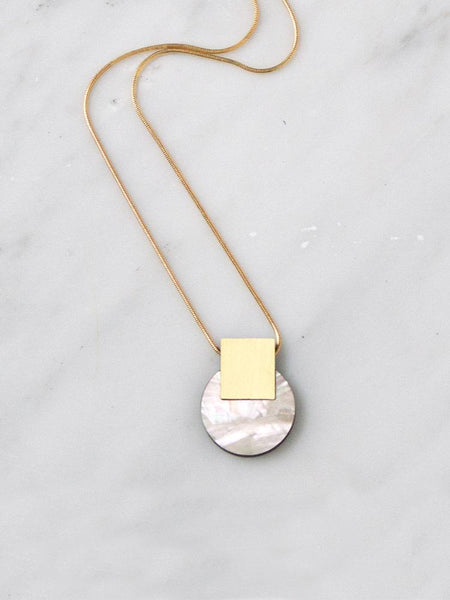 Sol necklace in Mother of Pearl by Wolf & Moon
